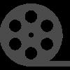 ムービーの映画フィルムロールアイコン